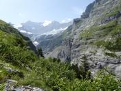 Gletscherschlucht recht, Fiescherhorn hinten