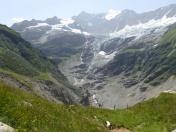 unterer Grindelwaldgletscher schrumpft