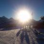 23.12. Sonne neben Gross- und Breithorn