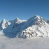 vom Schilthorn Richtung Eiger, Mönch und Jungfrau