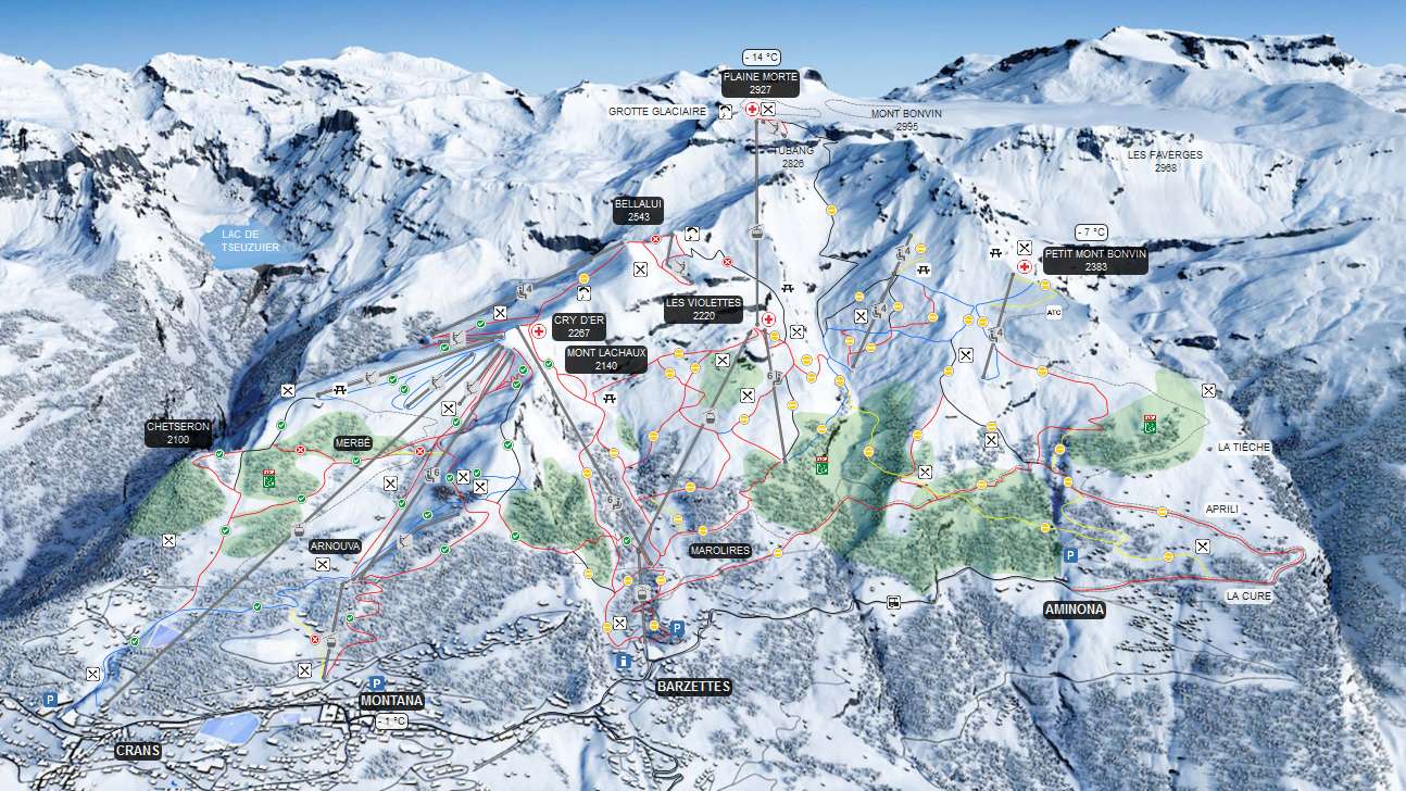 Skigebiet Crans Montana