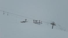 Blick von Lai Alv zum Skilift Piz Ault am Dienstag (etwas blind)