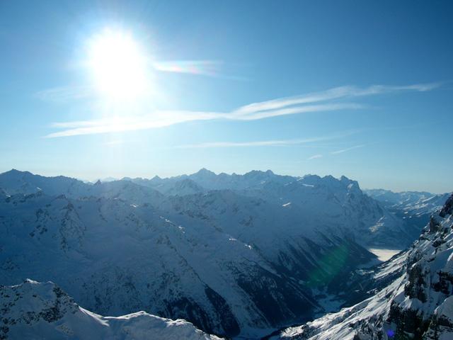 Titlis: Blick Richtung Berner Alpen