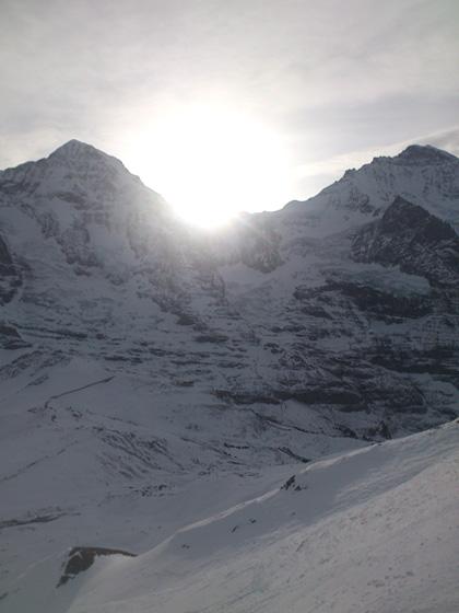 Sonnenaufgang Jungfraujoch 14.12.2014