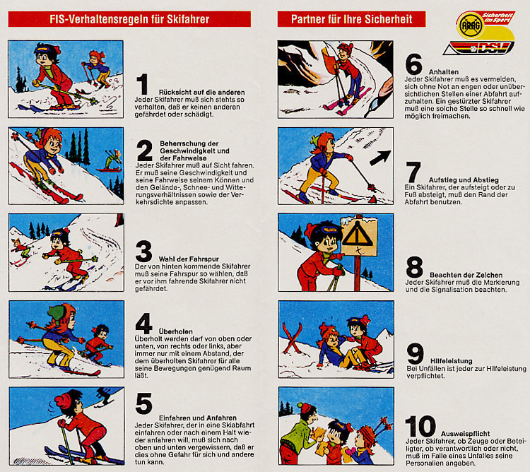 die 10 FIS Regeln und mehr bei BFU